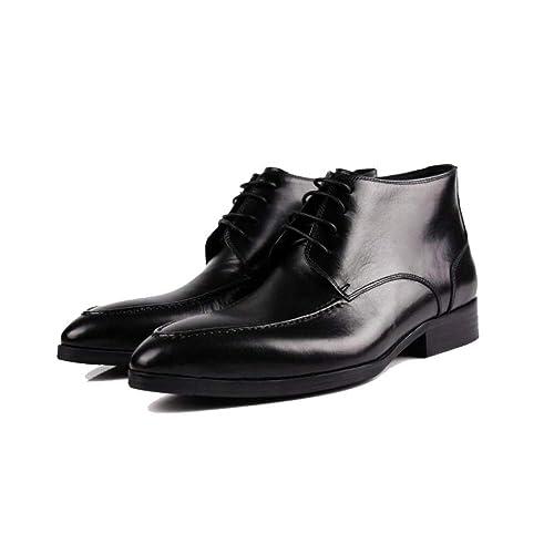Hombres, Botines, Invierno, Inglaterra, Moda, Corea, Tendencia, Confort, Calidez, Encajes, Guapo: Amazon.es: Zapatos y complementos
