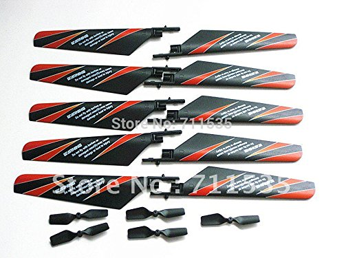 Yoton Accessories 5Pairs/Lot V911-02 Main Rotor Blades + V911-06 Tail Blade Set Spare Parts Accessory 4Ch V911 RC - Rotor Blade Tail 06