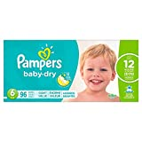 Pampers Baby-Dry Disposable Diapers Size 6, 96 Count, GIANT