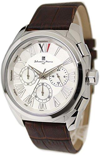 Salvatore Marra Chronograph Watch Men's SM14122-SSWH