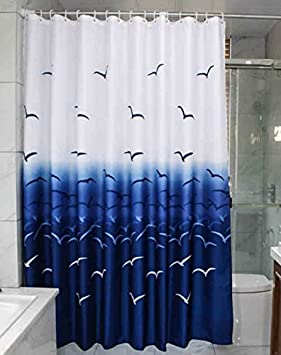 Green MangGou Leaves Fabric Shower Curtain,Waterproof Polyester Bathroom Curtain,Decorative Shower Curtain liner With 12 Hooks,Mildew resistant,Machine Washable,72 x 72 inch