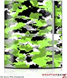 Sony PS3 Skin WraptorCamo Digital Neon Green