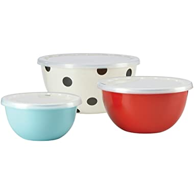 KSNY All in Good Taste Metal Serve and Store, Stainless, Set of 3