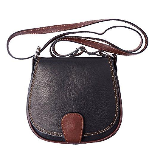 Saddle Florence Bolsa B024 marròn Leather Tipo De Market Negro Hombro rCq47PYwxq