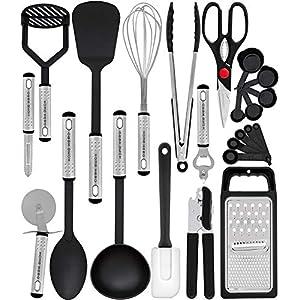 Home Hero Kitchen Utensil Set – 23 Nylon Cooking Utensils – Kitchen Utensils with Spatula – Kitchen Gadgets Cookware Set – Best Kitchen Tool Set