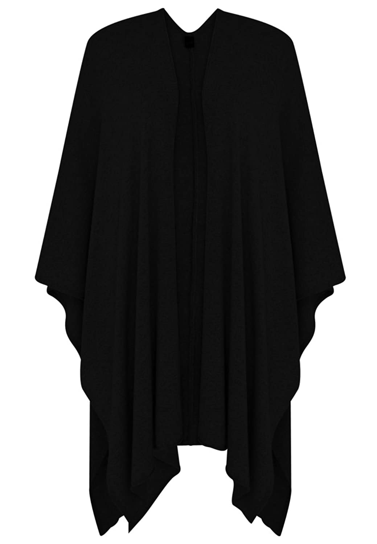 Yoek Damen Poncho Cape mit cashmere Plus Size