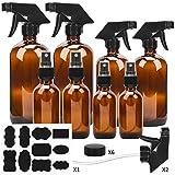 #9: ESARORA Glass Spray Bottle, Amber Glass Spray Bottle Set - Essential Oils - Cleaning Products - Aromatherapy (16OZ x 2, 8OZ x 2, 4OZ x 2, 2OZ x 2)