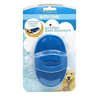 Four Paws Magic Coat Love Glove Dog Bath Massager by Four Pawss