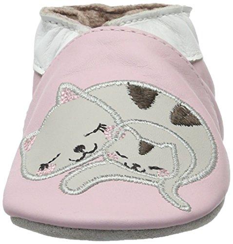 Robeez Baby Mädchen Sleepy Kitty Krabbelschuhe Pink (ROSE CLAIR)