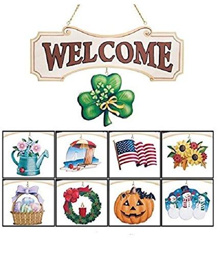 Spring Decorations for Home All Season Welcome Sign for Front Door Summer Fall Winter