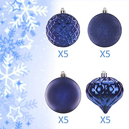"""Red, 40mm Tree Ornaments Hooks included 1.57/"""" KI Store 34ct Christmas Ball Ornaments Shatterproof Christmas Decorations Tree Balls SMALL for Holiday Wedding Party Decoration"""