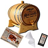 Personalized American Oak Aging Barrel - Design 023: Your Stash (1 Liter)