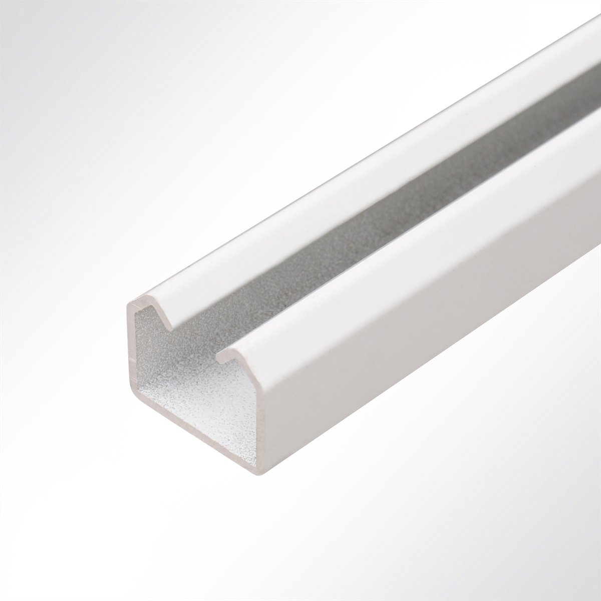 LYSEL Laufschiene Aluminium wei/ß 25x19 Schiebetor Schiebet/ür Hallent/ür 2 Meter