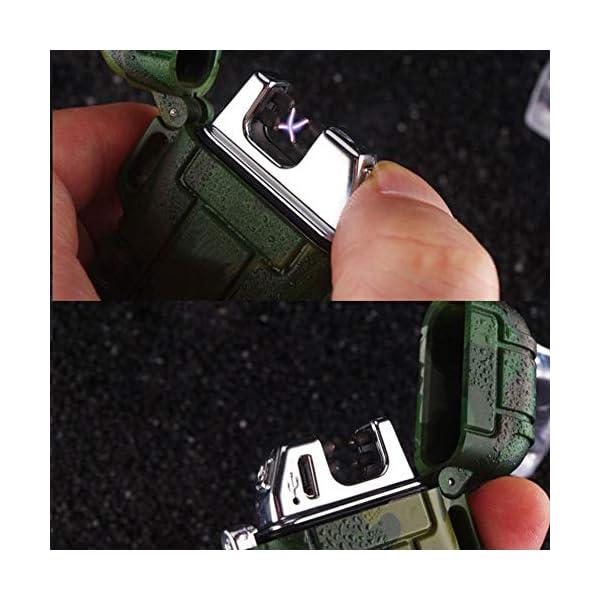 Mechero de Plasma, Teepao Dual Arc Mechero USB recargable sin llama a prueba de viento encendedor de cigarrillos… 5