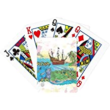Cancun Mexico Island Mayan Temple Poker Playing Cards Tabletop Game Gift
