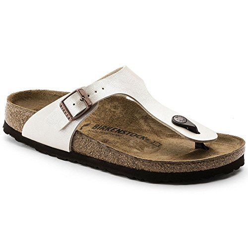 Birkenstock BIRK-943873-Wht NARROW FIT-38 M US Gizeh White by Birkenstock (Image #1)