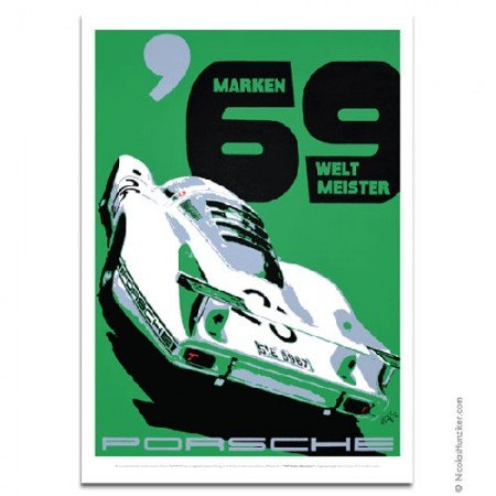 Porsche Nicolas Hunziker 908LH Marken Weltmeister 1969 Poster