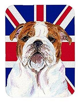 Caroline tesoros del Bulldog Inglés con Inglés Union Jack bandera de Reino Unido alfombrilla para ratón, Hot Pad o salvamanteles (SS4926MP): Amazon.es: ...
