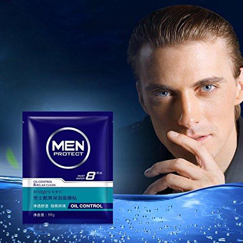 DaySeventh Men Moisturizing Facial Masks Control Oil Moisture Sheet Pack Asia Plant Oils Face Mask (Type 1)