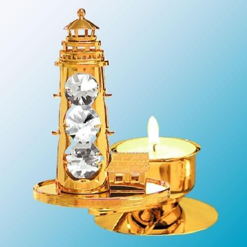 Lighthouse Tea-Light..... With Clear Swarovski Austrian Crystal