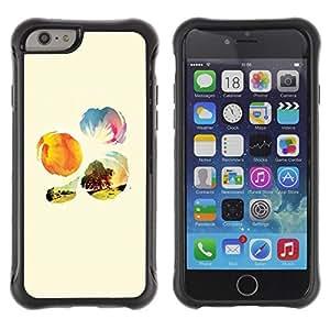 Fuerte Suave TPU GEL Caso Carcasa de Protección Funda para Apple Iphone 6 PLUS 5.5 / Business Style Nature Sunshine Tree Field Flowers