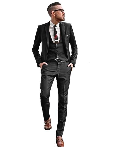 Amazon.com: Traje de boda para hombre de 3 piezas de tuxedos ...