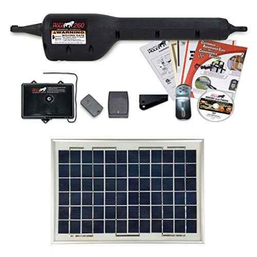 Mighty Mule MM260 Solar Package - Light Duty Single Gate Opener w/Solar Panel (10 Watt Panel)