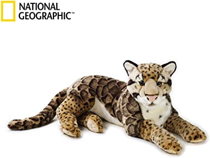 National Geographic Giant Clouded Leopard Plush Medium Size Happy Cube 8004332707424