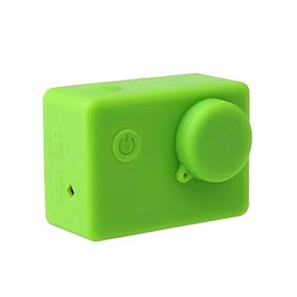 Funda Blanda Cubierta de Silicona Caja Protectora para Cámara Deportiva SJCAM SJ5000 Sjcam SJ4000 Varios Colores - Verde