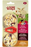Living World 2-Pack Small Animal Wheel Pet Treat Delights, 2.4-Ounce, Passion Fruit/Flowers