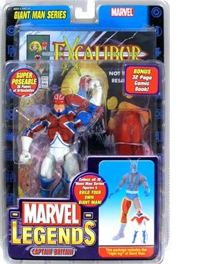 Marvel Legends Exclusive Series Action Figure Captain Britain with Giant Man ... (Series Giants Legend)
