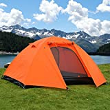 2 Person Double Layer Camping Hiking Waterproof Backpack Tent w/ Rainfly (Orange) For Sale