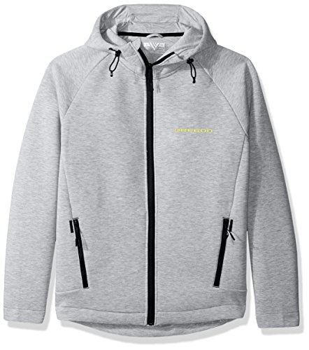 Levelwear LEY9R Adult Men Titan Insignia Full Zip Hooded Jacket, Heather Pebble, X-Large ()