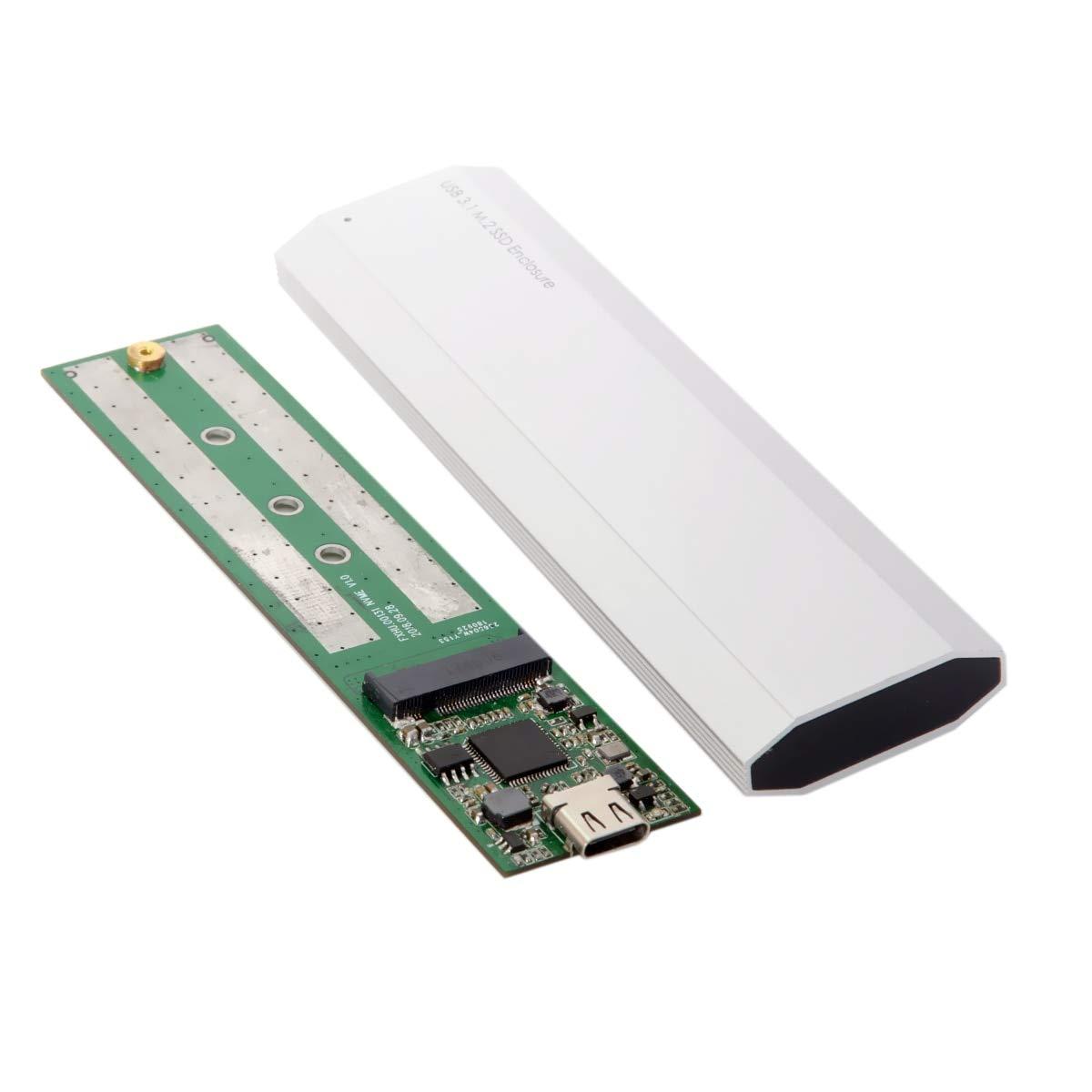 YOUKITTY Type-C USB-C USB 3.1 3.0 10Gbps to Nvme M-Key M.2 NGFF PCI-E 2 Lane SSD Enclosure for M-Key NVME SSD