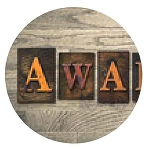 alfombrilla de ratón Premio Concepto de tipografía de madera - ronda - 20cm