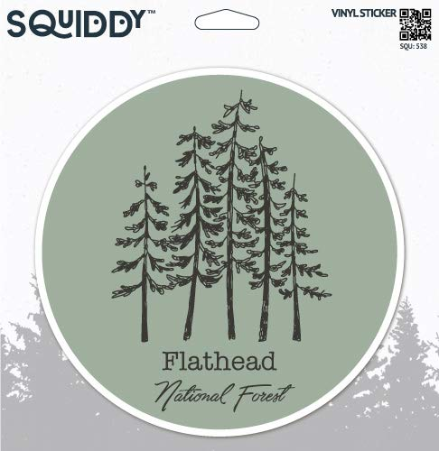 Squiddy Flathead National Forest - Vinyl Sticker - Large Size (12
