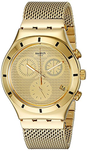 SWATCH watches IRONY CHRONO GOLDEN COVER L) YCG410GA Men's [regular imported goods]
