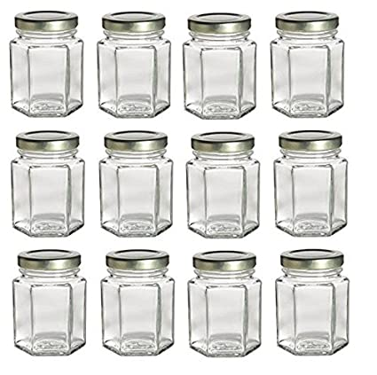 Amazon Premiumvials 12 Pcs 4 Oz Hexagon Glass Jars For Jam