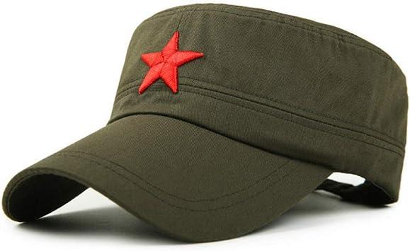 JJJRMP Gorra Militar De Algodón para Hombres, Mujeres, Estrella ...
