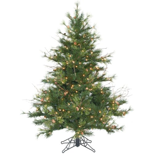 (Vickerman 45' Mixed Country Pine Artificial Christmas Tree with 250 Clear lights)