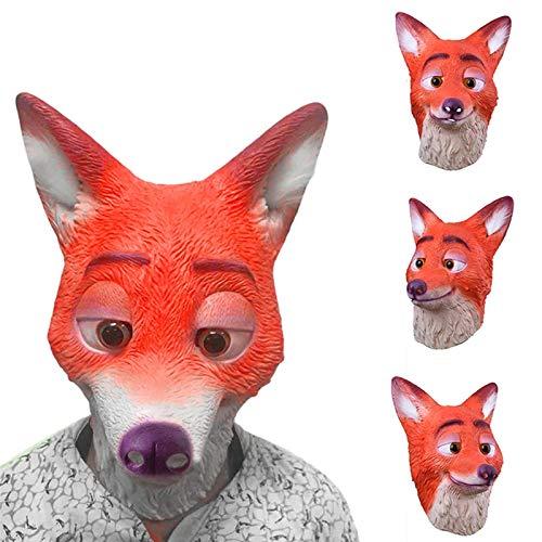 DeemoShop Cute Fox Latex Masks Animal Head Mask