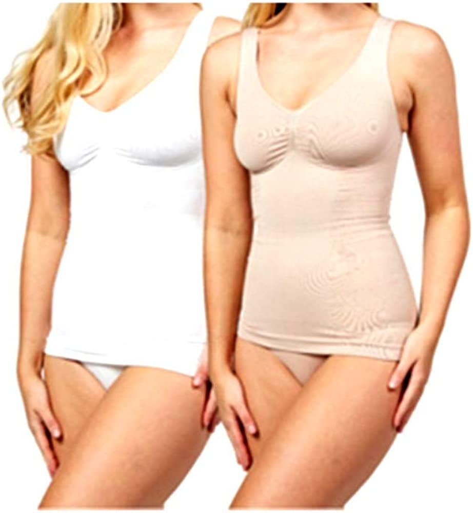 Vercella Vita Medium Control Lace Pattern Camis Pack of 2