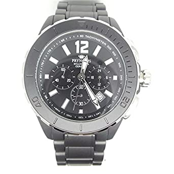 Armbanduhr PRYNGEPS A425 Herren 3bis cr840 Quarz (Batterie) Stahl Quandrante schwarz Armband Keramik