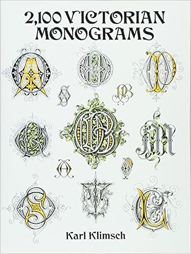 2100 Victorian Monograms Dover Pictorial Archive Series Amazon De Klimsch Karl Fremdsprachige Bucher