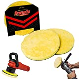 Microfiber DA Buffing and Cutting Pads 2 Pack of 6'', 5'', or 3'' | Quick Detailing Disk | Remove Swirls Scratches and Hazing | Machine Washable (5'', 2x Cutting)