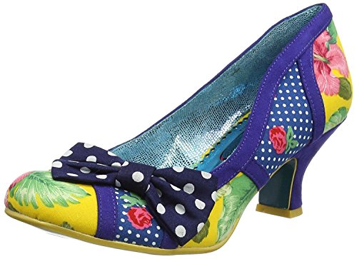 Poetic Licence Shake It Blau Gelb Damen Absatze Schuhe