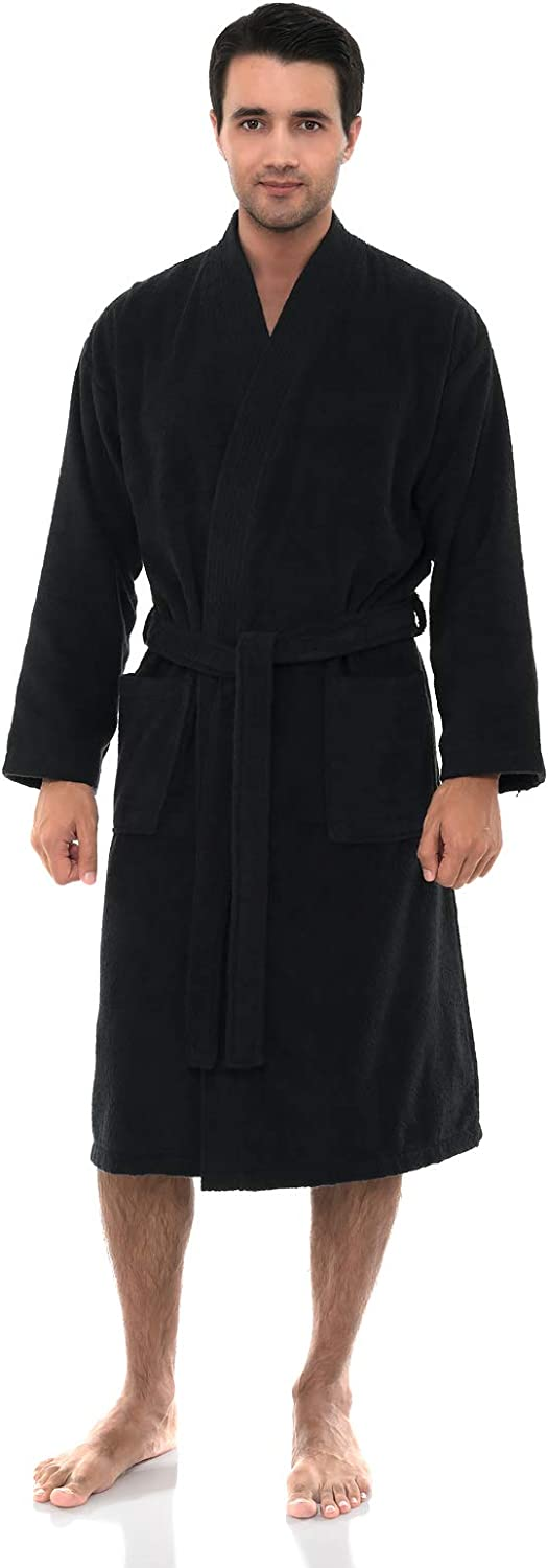 TowelSelections Men's Luxury Robe, Turkish Cotton Terry Kimono Soft Bathrobe