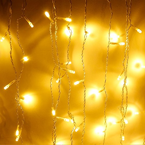 144 LEDs String Light ilikable 13 x 2ft Fairy Curtain icicle Window Light Waterproof Decorative Lights Indoor Outdoor with 8 Modes for Wedding Party Home Garden Patio Valentines Day Backyard Decoratio by ilikable