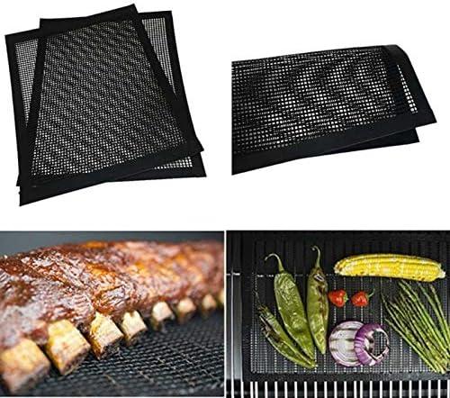 1pc extérieur Barbecue Mat téflon haute température anti-adhésive Barbecue Grill Pad poisson viande BBQ rôti Pad Antiadhésif et Réutilisable Barbecue Tapis