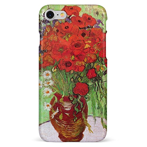 Monarque iPhone Case with Smooth Premium Durable Scratch-Resistant TPU Material with Poppies Design Fit For iPhone 6 iPhone 7 iPhone 8